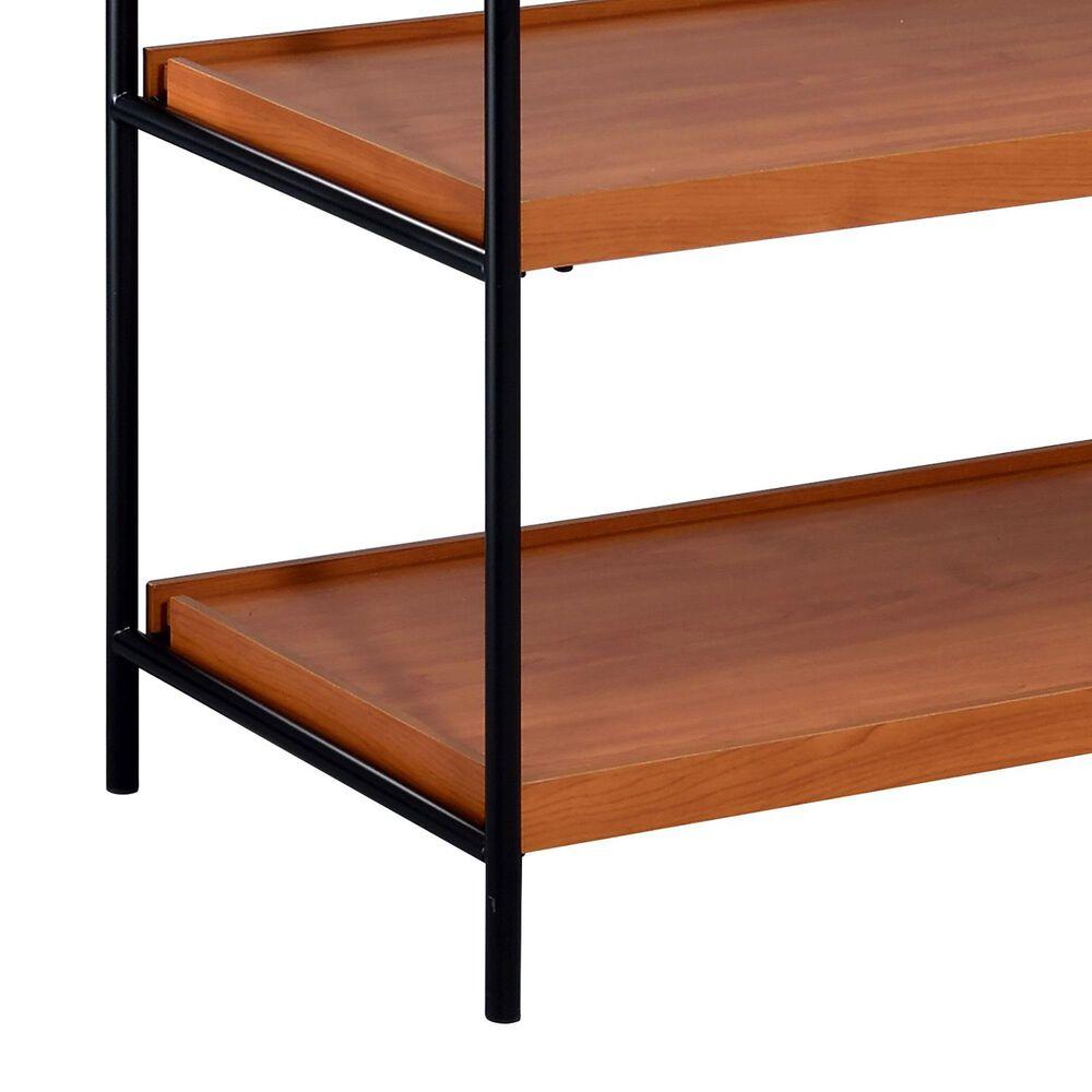 Gunnison Co. Oaken Bookshelf in Honey Oak/Black, , large