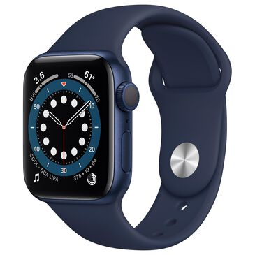 Apple Watch Series 6 GPS 40mm with Deep Navy Sport Band in Blue with AppleCare+, , large