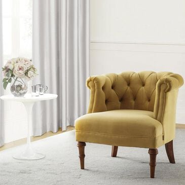 Jennifer Taylor Home Katherine Tufted Accent Chair in Gold Velvet, , large
