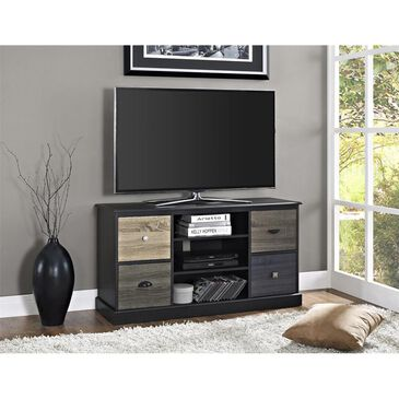 "DHP Blackburn 50"" TV Console with Multicolor Door Fronts in Black, , large"