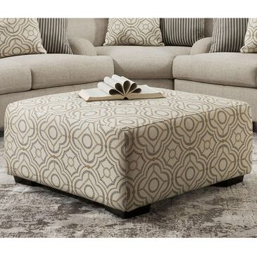 Moore Furniture Cambria Cocktail Ottoman in Natural, , large
