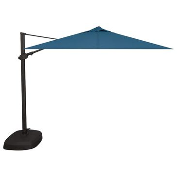 Garden Party 10' Square Cantilever with Blue Jay Canopy in Black, , large