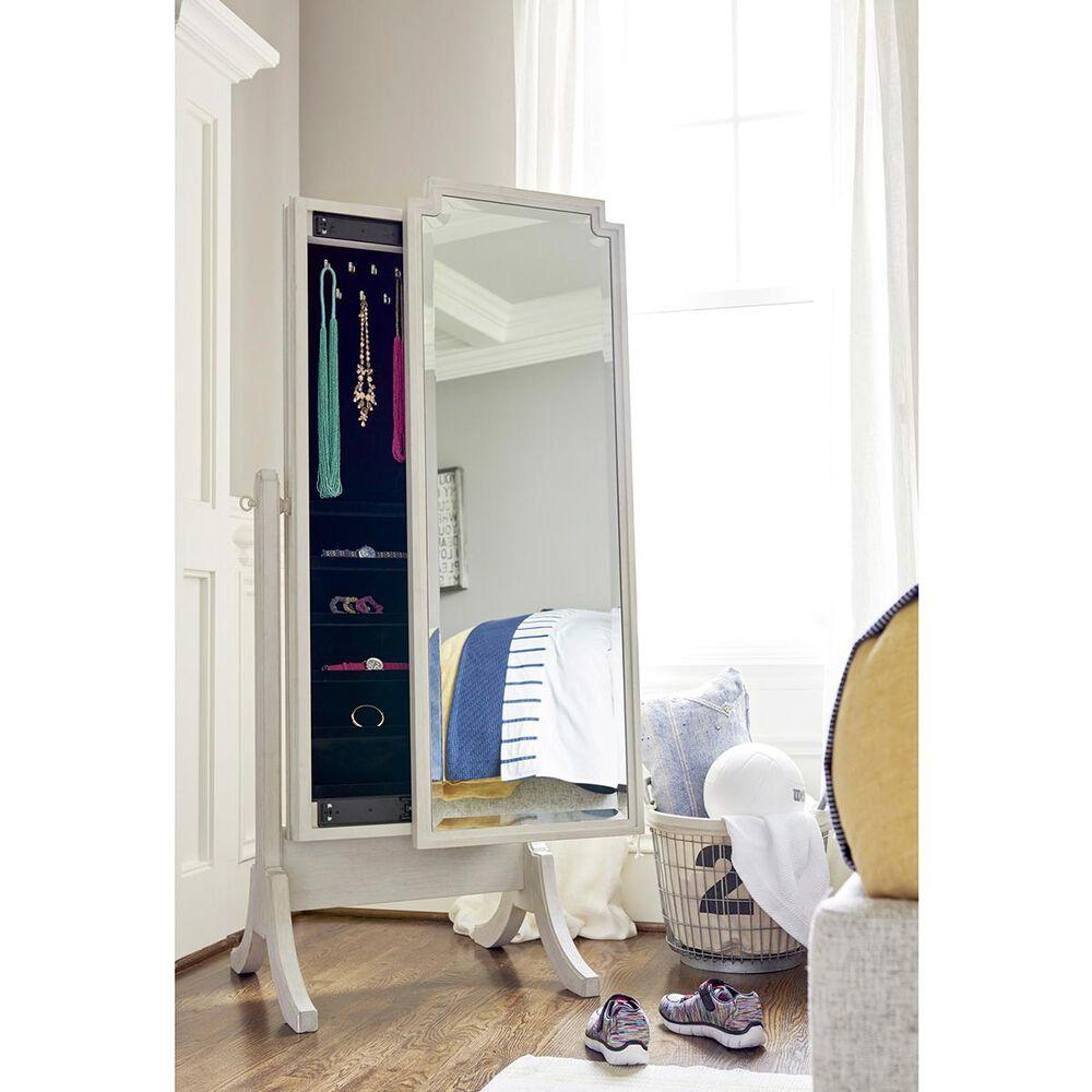 Furniture Worldwide Serendipity Cheval Storage Mirror in Alabaster, , large