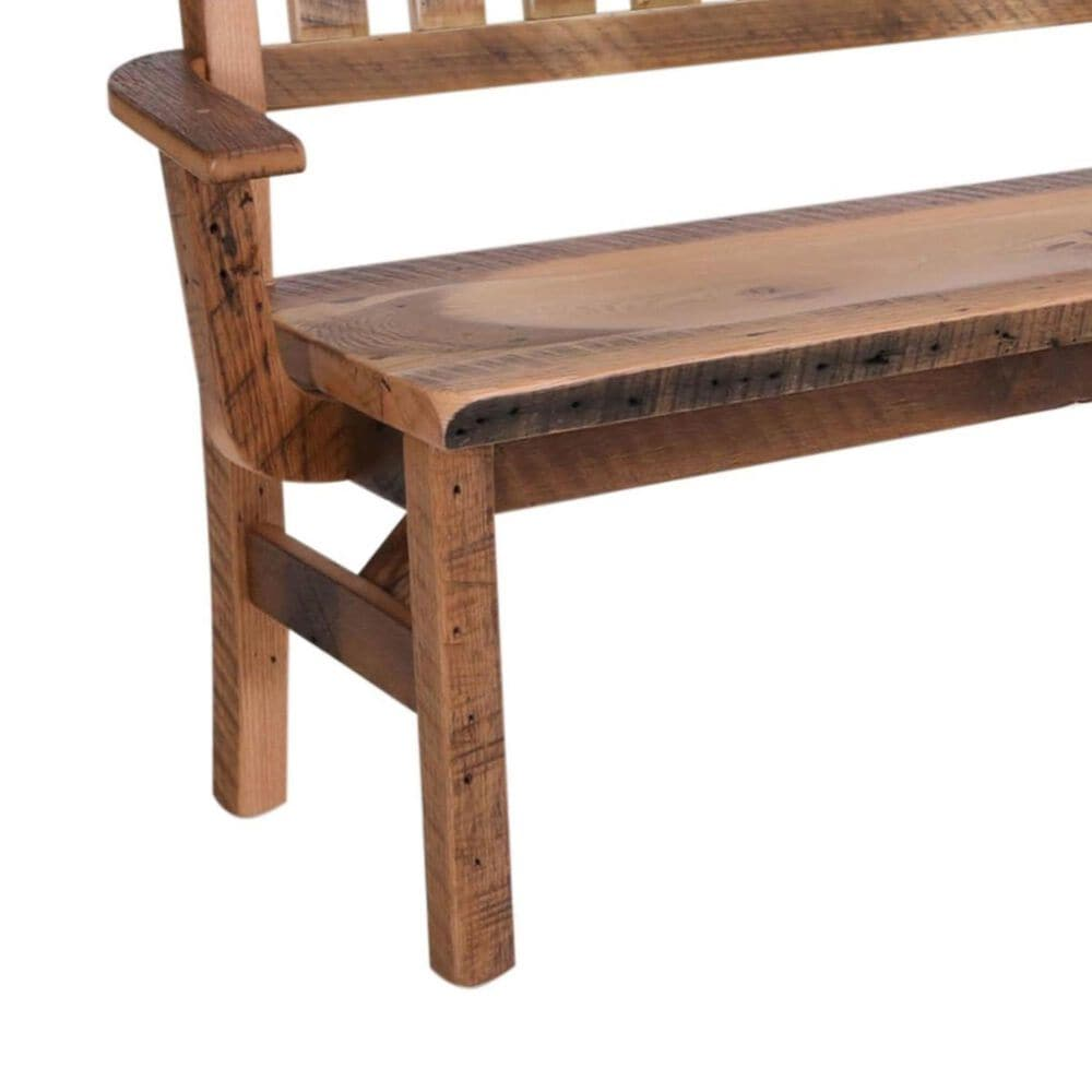 Daniel's Amish Collection Barnwood Deacon Bench in Natural, , large
