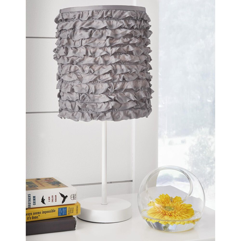 Signature Design by Ashley Mirette Metal Table Lamp in White, , large