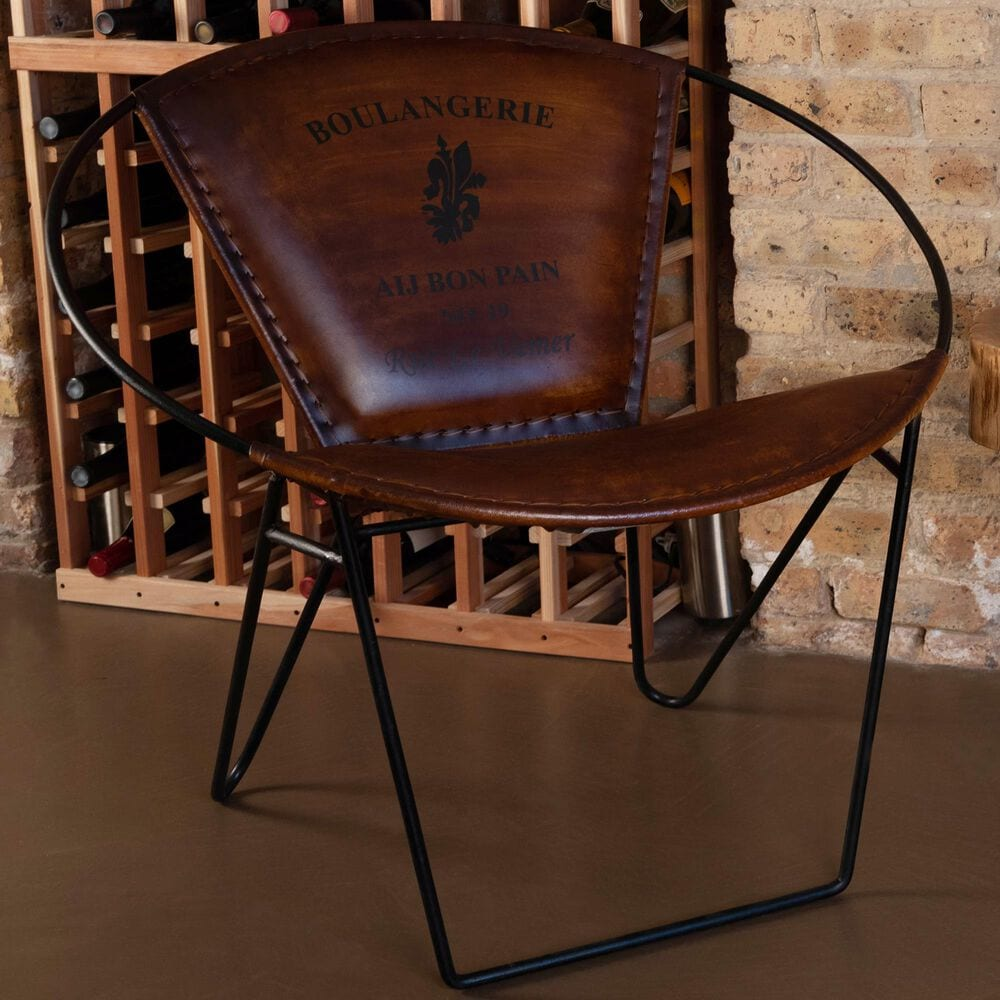 Butler Milo Accent Chair in Medium Brown and Black, , large
