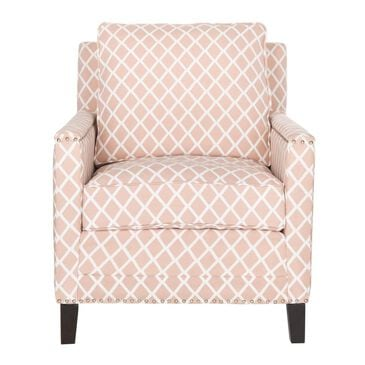 Safavieh Buckler Arm Chair in Pink Peach/Beige, , large