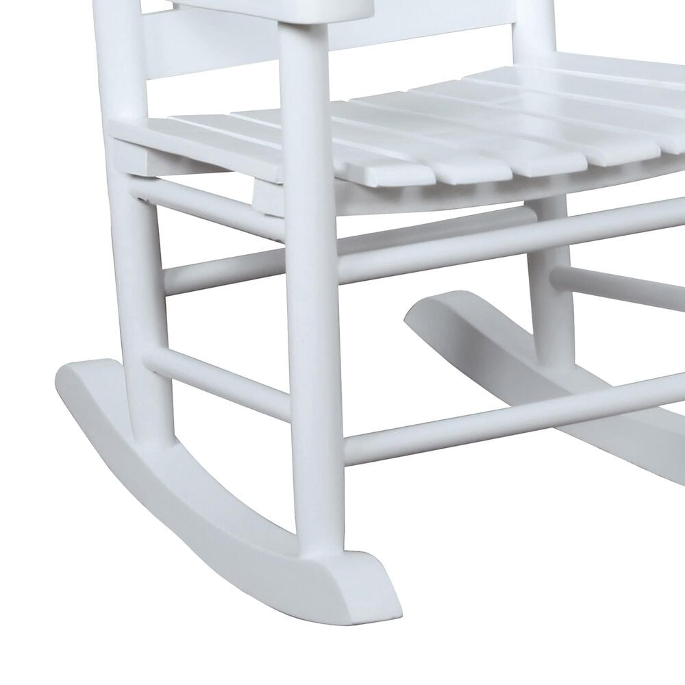 Pacific Landing Youth Rocking Chair in White, , large