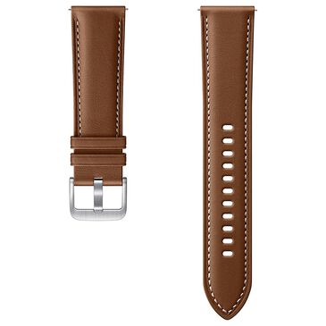 Samsung Galaxy Watch 3 Stitch Leather Band 22mm in Brown, , large