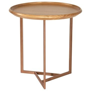 "Dayton Knickerbocker 19.29"" Round End Table in Cinnamon, , large"