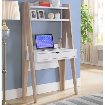 Global Movement Ladder Desk in Weathered White and White, , large