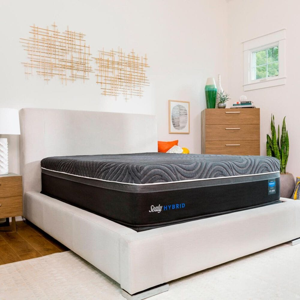 Sealy Premium Silver Chill Hybrid Firm Twin XL Mattress with Low Profile Box Spring, , large