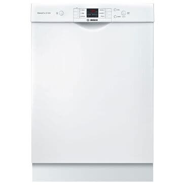 "Bosch 100 Series 24"" Front Control Dishwasher in White, , large"