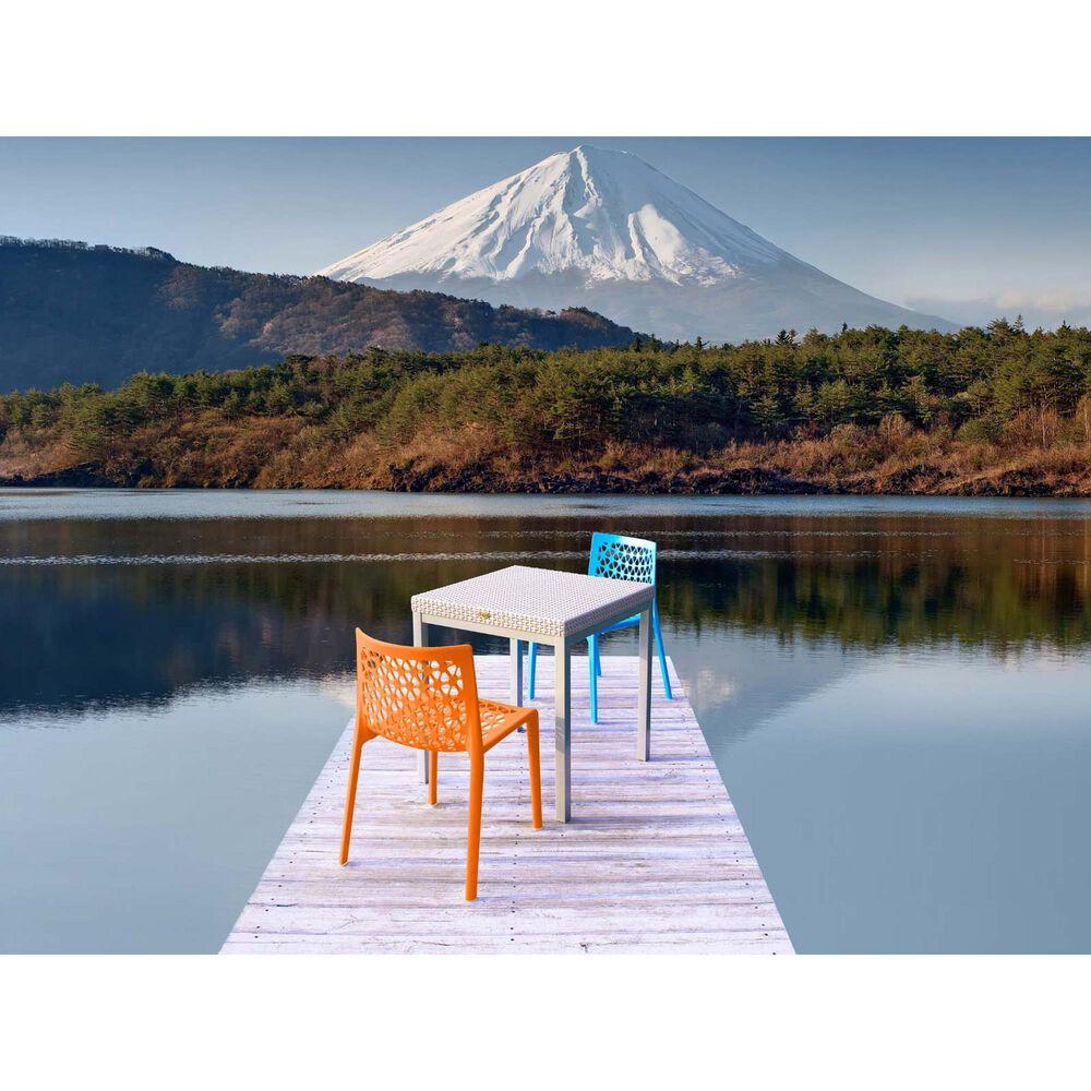 Lagoon Furniture Milan Stackable Dining Chairs in Orange (Set of 2), , large