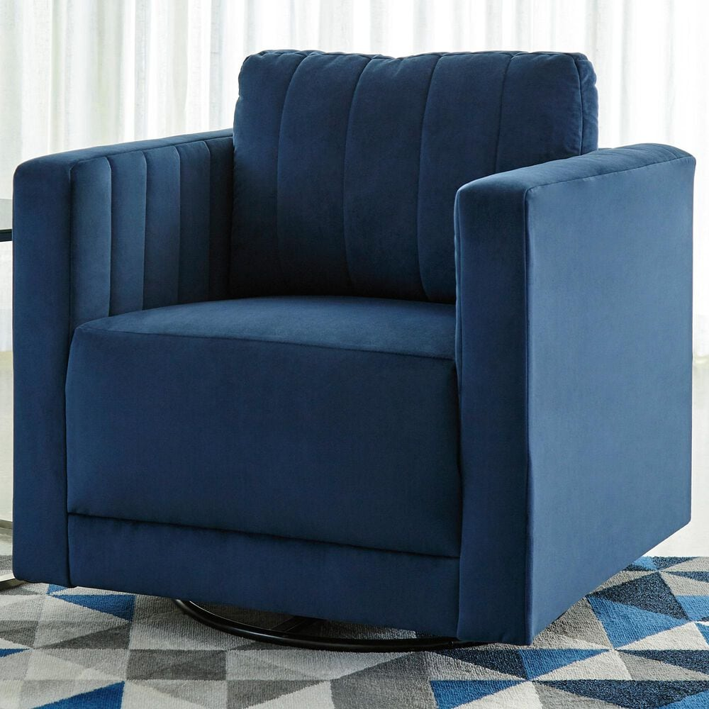 Signature Design by Ashley Enderlin Swivel Accent Chair in Ink, , large