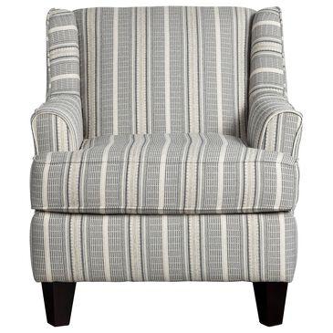 Xenia Contemporary Accent Chair in Farmhouse Indigo, , large