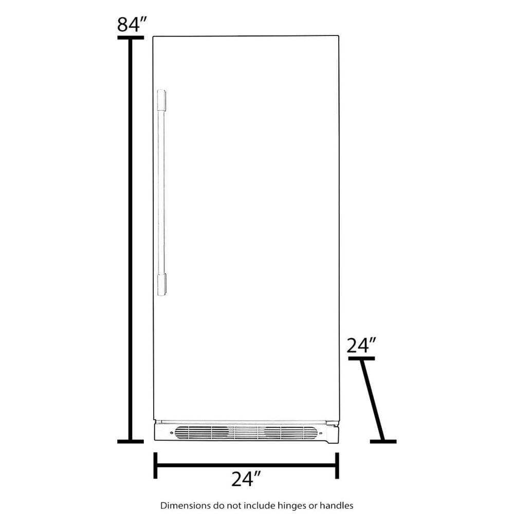 "Roth Distributing Sub-Zero 24"" Combination Designer Column Refrigerator/Freezer Panel Ready , , large"