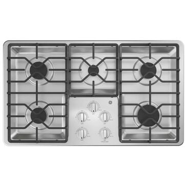 "GE Appliances 36"" Built-In Gas Cooktop in Stainless Steel, , large"