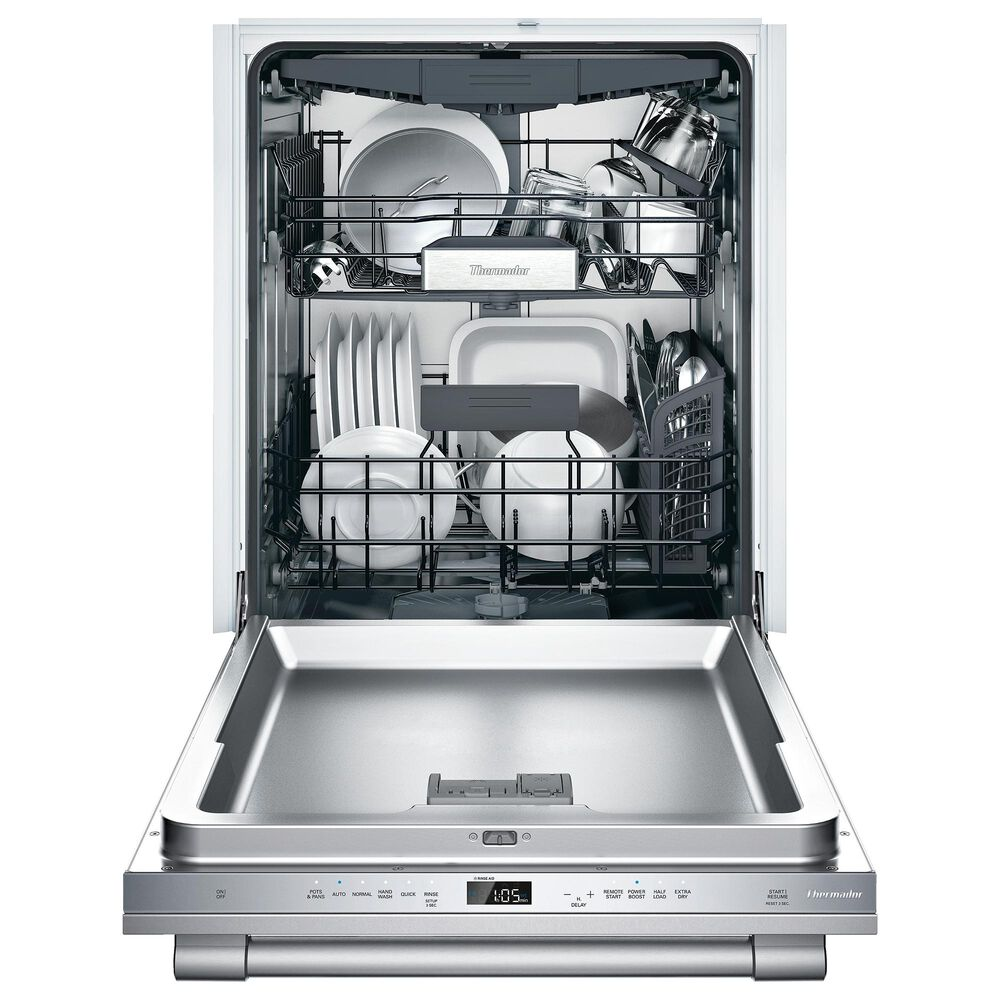 """Thermador Emerald Series 24"""" Built-In Dishwasher with Stainless Steel Tub in Stainless Steel, , large"""