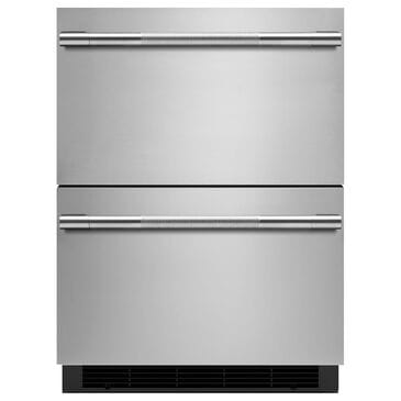 """Jenn-Air Rise 24"""" Double Drawer Refrigerator in Stainless Steel, , large"""