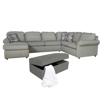 Ball Creek Designs 3-Piece Sectional and Ottoman in Brentwood Pepper, , large