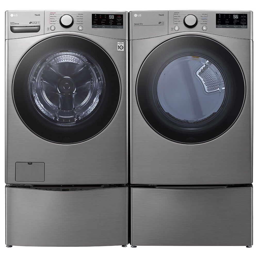 LG 7.4 Cu. Ft. Smart Wi-Fi Enabled Front Load Electric Dryer in Graphite Steel, , large