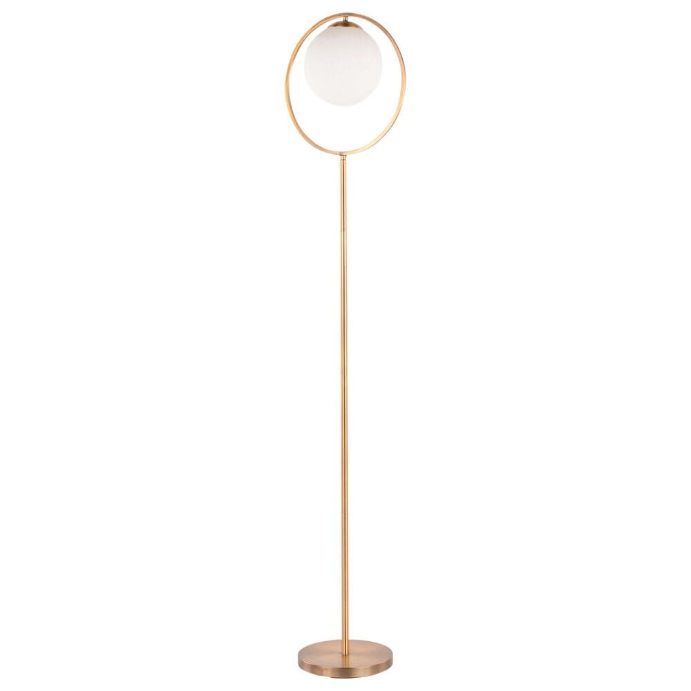 Lumisource Moon Floor Lamp in White and Gold, , large