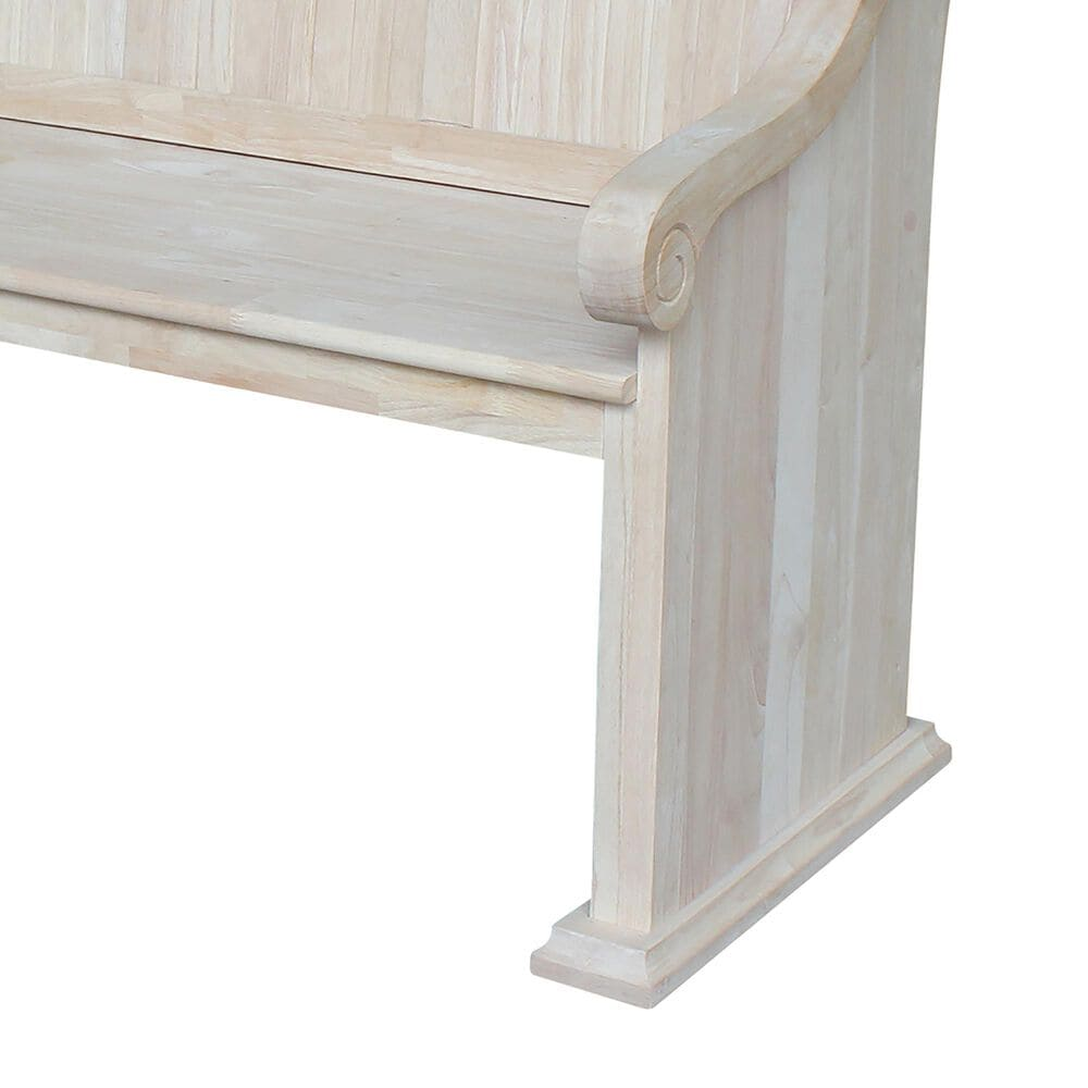 International Concepts Sanctuary Bench in Unfinished, , large