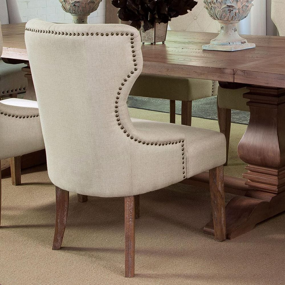 Donny Osmond Home Florence Tufted Back Side Chair in Beige, , large