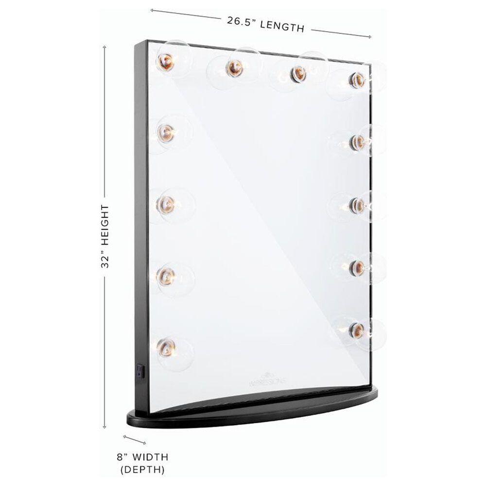 Impressions Vanity Hollywood Glow Xl Vanity Mirror in Pro Black, , large