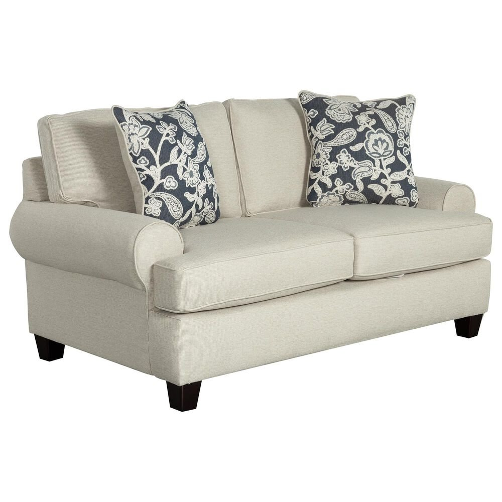 Xenia Contemporary Loveseat in Awesome Oatmeal, , large