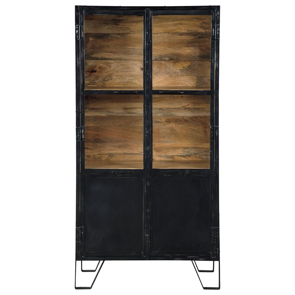 Signature Design by Ashley Gabinwell Accent Cabinet in Black and Medium Brown, , large