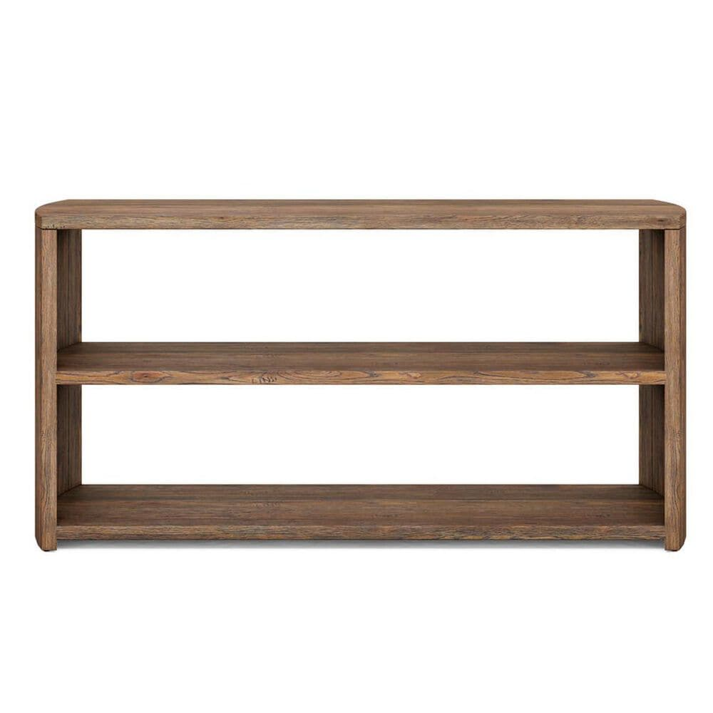 Vantage Stockyard Shelf Console Table in Smoaked Brown, , large