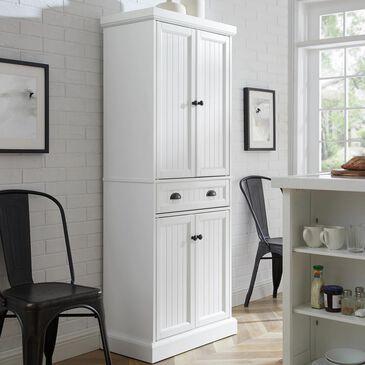 Crosley Furniture Shoreline Pantry in White, , large