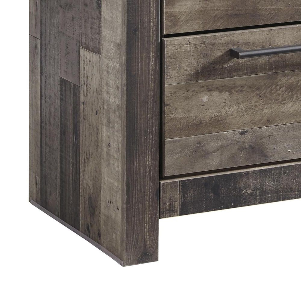 Signature Design by Ashley Derekson 2 Drawer Nightstand in Walnut and Gray, , large