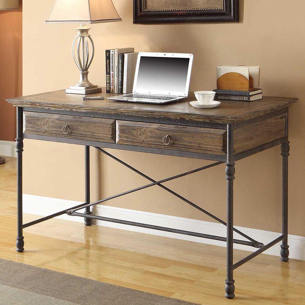 Shell Island Furniture Corbin 2-Drawer Desk in Corbin Medium Brown, , large