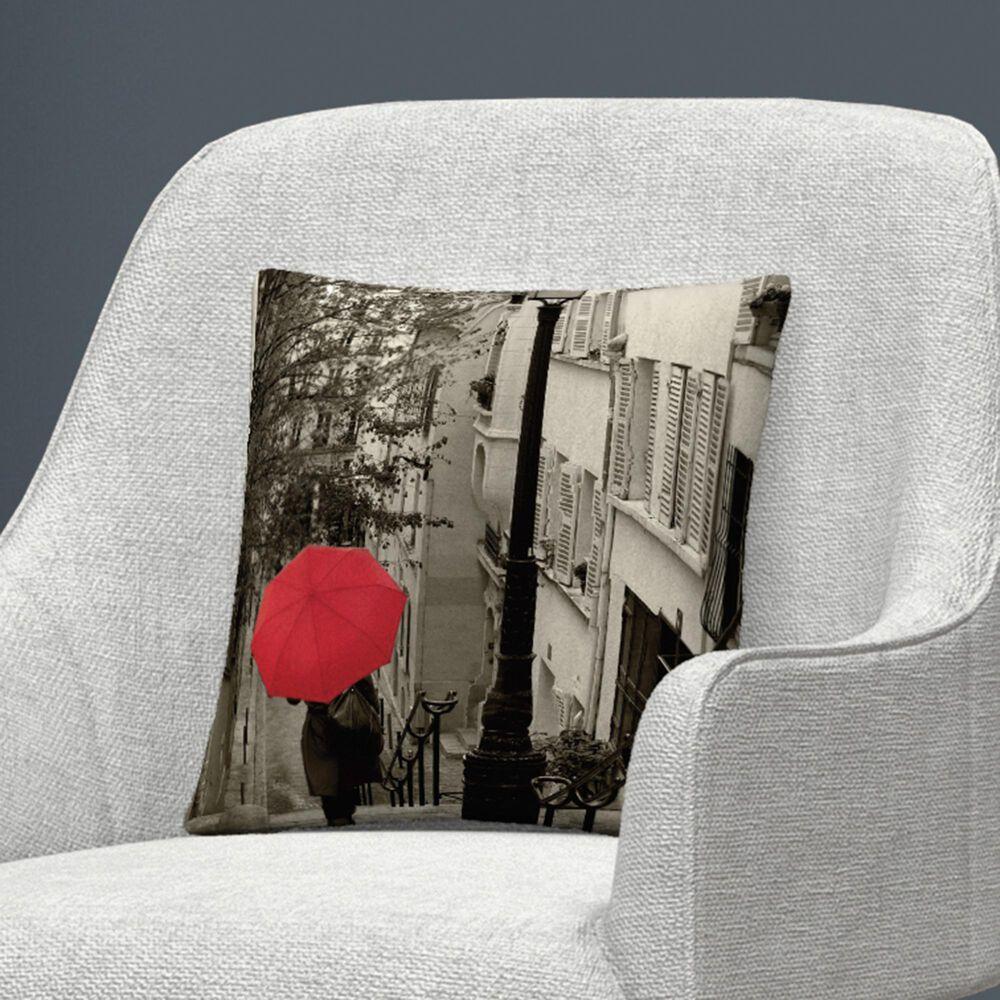 Timberlake Sue Schlabach 'Paris Stroll II' 16 x 16 Decorative Throw Pillow, , large