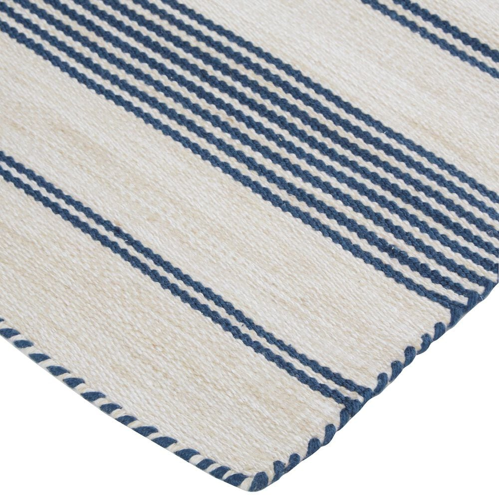 Feizy Rugs Duprine 5' x 8' Blue and Ivory Area Rug, , large