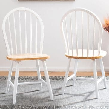 Safavieh Camden Dining Chair in White/Natural (Set of 2), , large