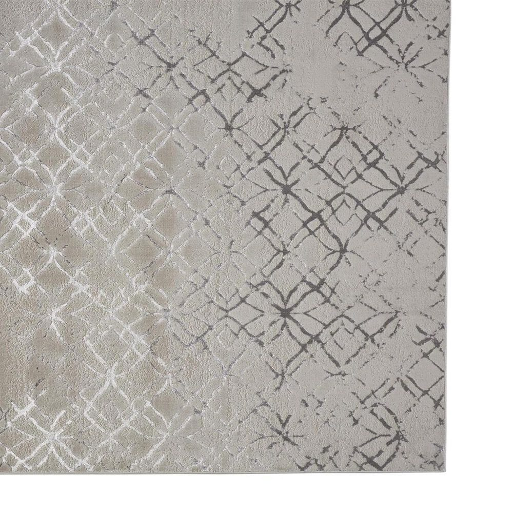 Feizy Rugs Micah 3047F 5' x 8' Beige and Silver Area Rug, , large