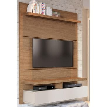 Dayton City 1.2 Wall Theater Entertainment Center in Maple Cream and Off White, , large