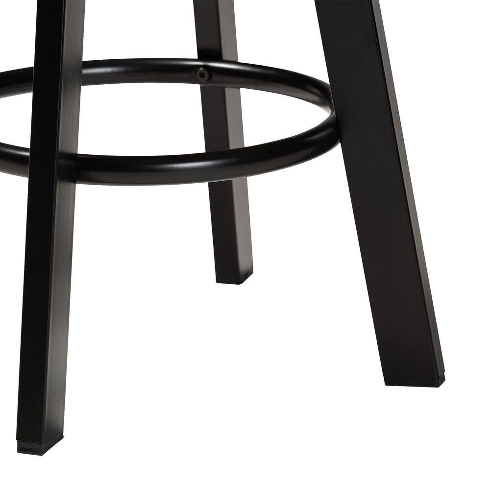 Baxton Studio Maritta 3-Piece Adjustable Bar Set in Walnut/Black, , large
