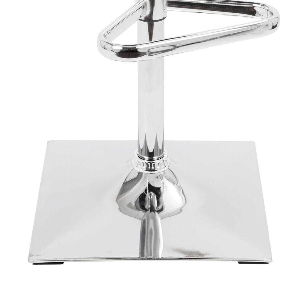 Lumisource Mirage Adjustable Swivel Barstool in Silver/Chrome, , large