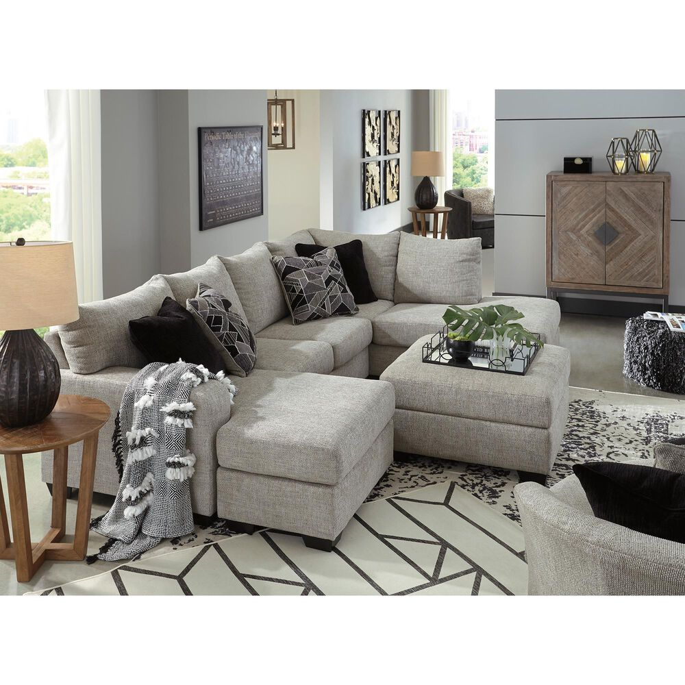 Signature Design by Ashley Megginson 3-Piece Sectional with LAF Sofa Chaise in Storm, , large