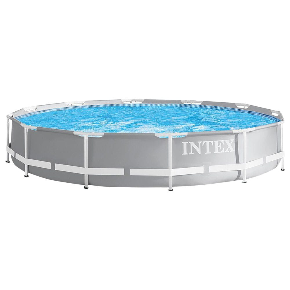 "Intex 12' x 30"" Prism Frame Pool Set in Gray, , large"