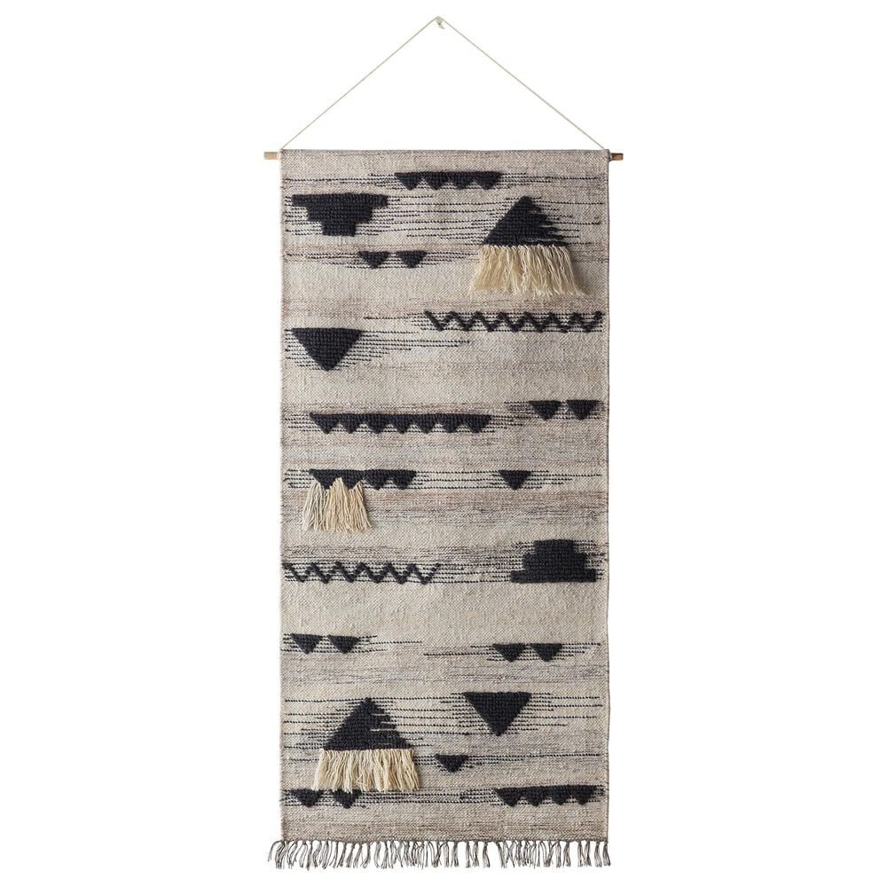 Surya Inc Asher Wall Hanging in Charcoal and Taupe, , large