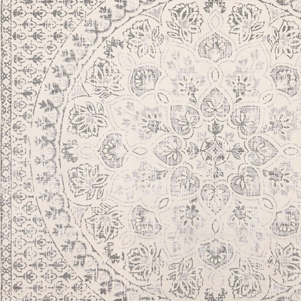 """Oriental Weavers Capistrano Distressed 517C1 6'7"""" x 9'6"""" Ivory and Gray Area Rug, , large"""
