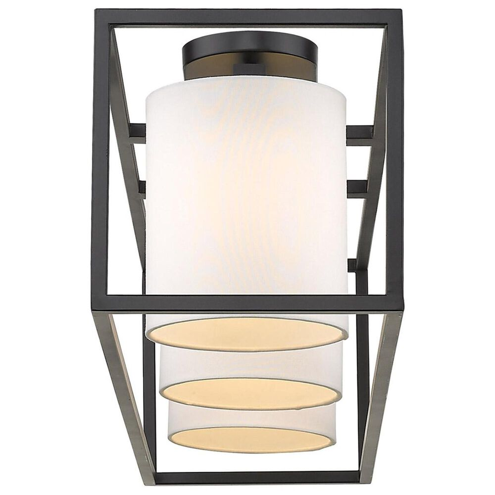 Golden Lighting Manhattan 3-Light Semi Flush in Black, , large