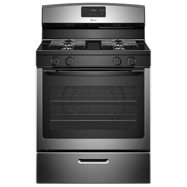 """Amana 30"""" Gas Range with Easyaccess Broiler Door in Stainless Steel, , large"""