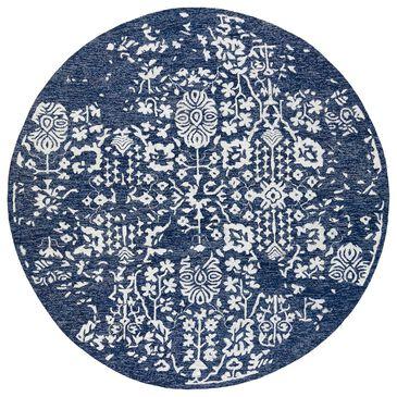 Surya Granada GND-2311 8' Round Dark Blue, Denim and Ivory Area Rug, , large